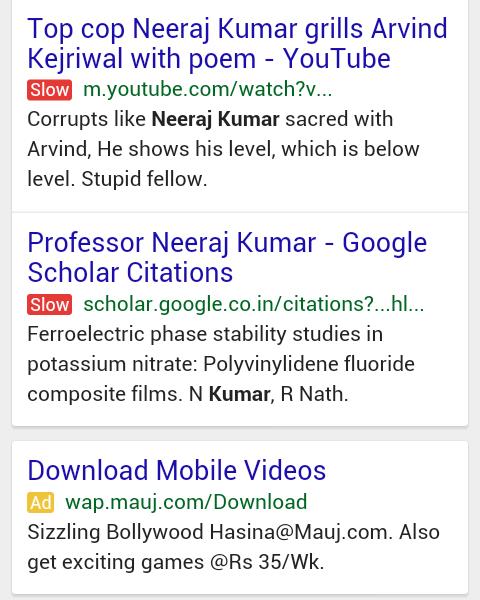 Etykieta SLOW w wynikach wyszukiwania