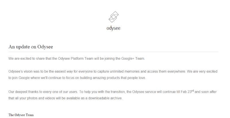 Odysee-Closing