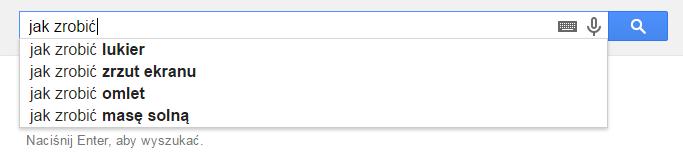 Sugestie Google