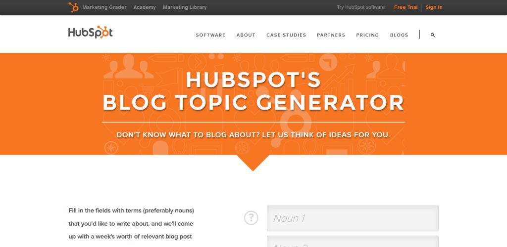 HubSpot Blog Topic Generator