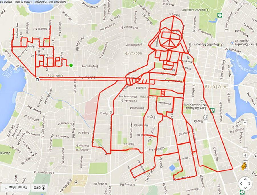 trasa na mapie lord vader