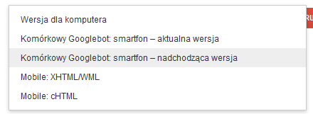 Googlebot z nowym user-agentem