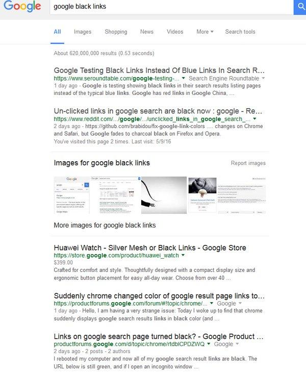 czarne wyniki wyszukiwania