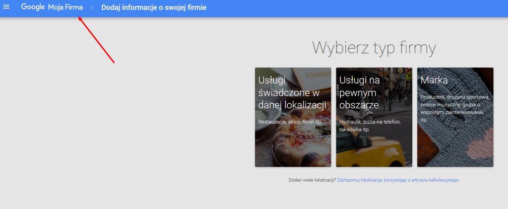 Google Moja Firma - zakładanie