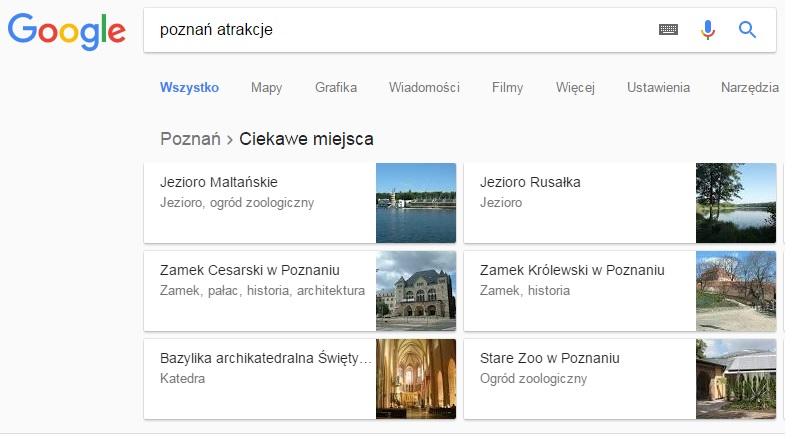 Atrakcje turystyczne w danym mieście