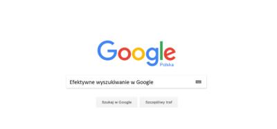 Efektywne wyszukiwanie w Google