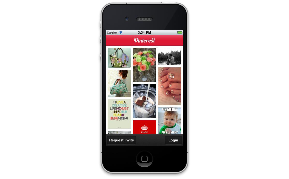 Pinterest - wersja na urządzenia mobilne