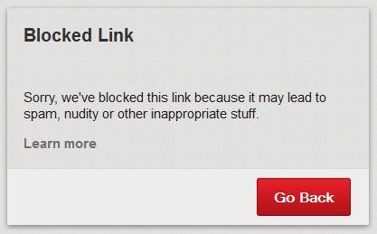 Pinterest - komunikat o usuniętym linku