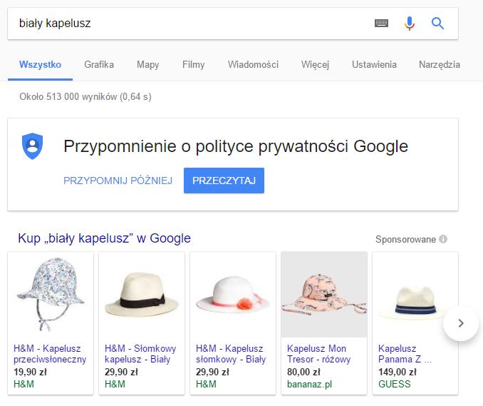 Biały kapelusz - wyniki wyszukiwania
