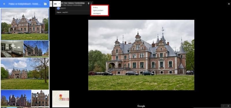 Google Maps - opcja zgłoszenia zdjęcia