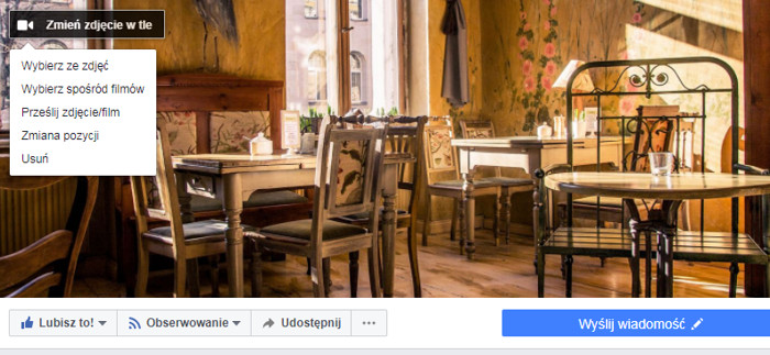 Ustawienie filmu w tle na Facebooku - krok po kroku