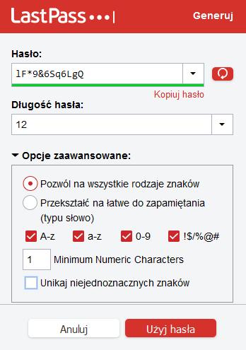 LastPass - przykład użycia