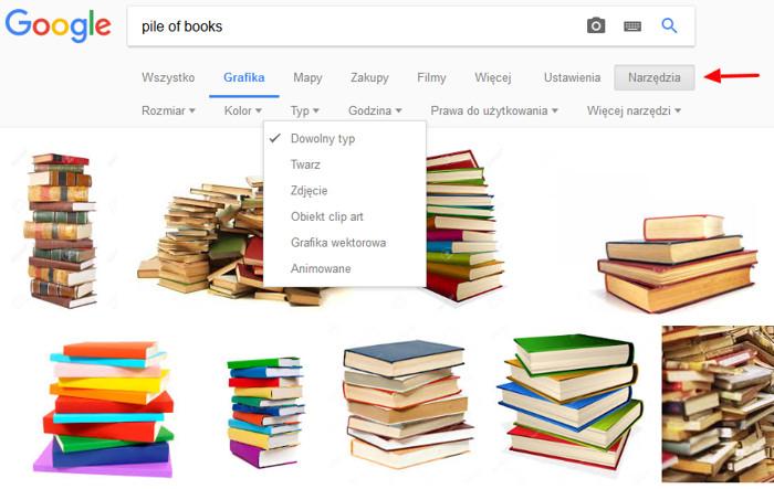 Narzędzia w Google Grafika