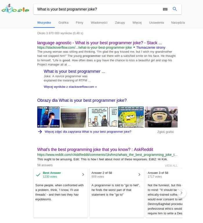 Umiejscowienie rozszerzonych odpowiedzi w Google