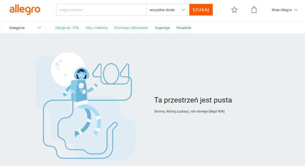 Strona błędu 404 na Allegro.pl