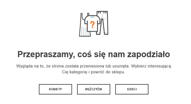 Strona błędu 404 na Zalando.pl