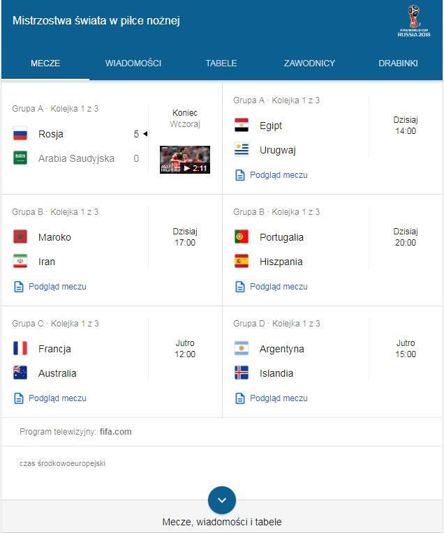 Mundial w Google