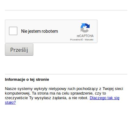 CAPTCHA w Google