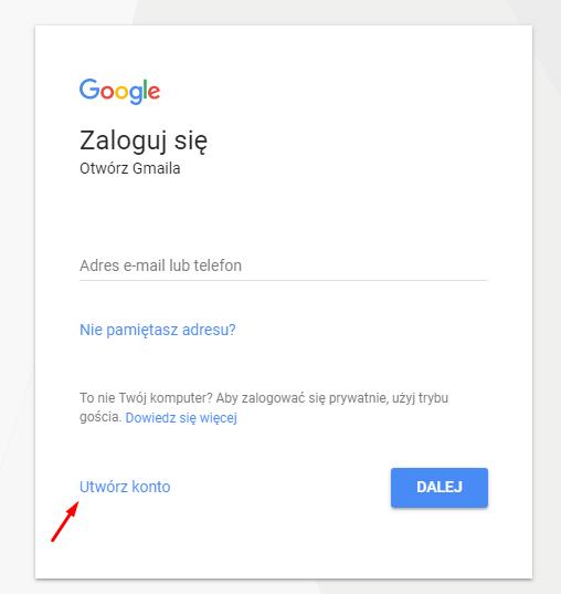 Logowanie do Gmail