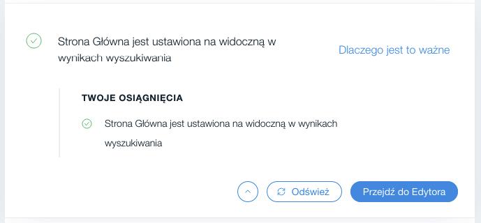 Wix SEO Wiz – optymalizacja tekstów na stronie głównej