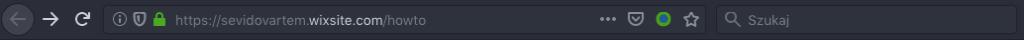 Adres strony wersji bezpłatnej WIX