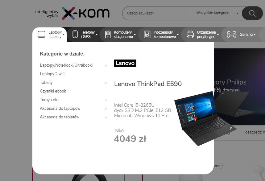 Dywersyfikacja przekazu w menu poprzez dodanie zdjęć produktów