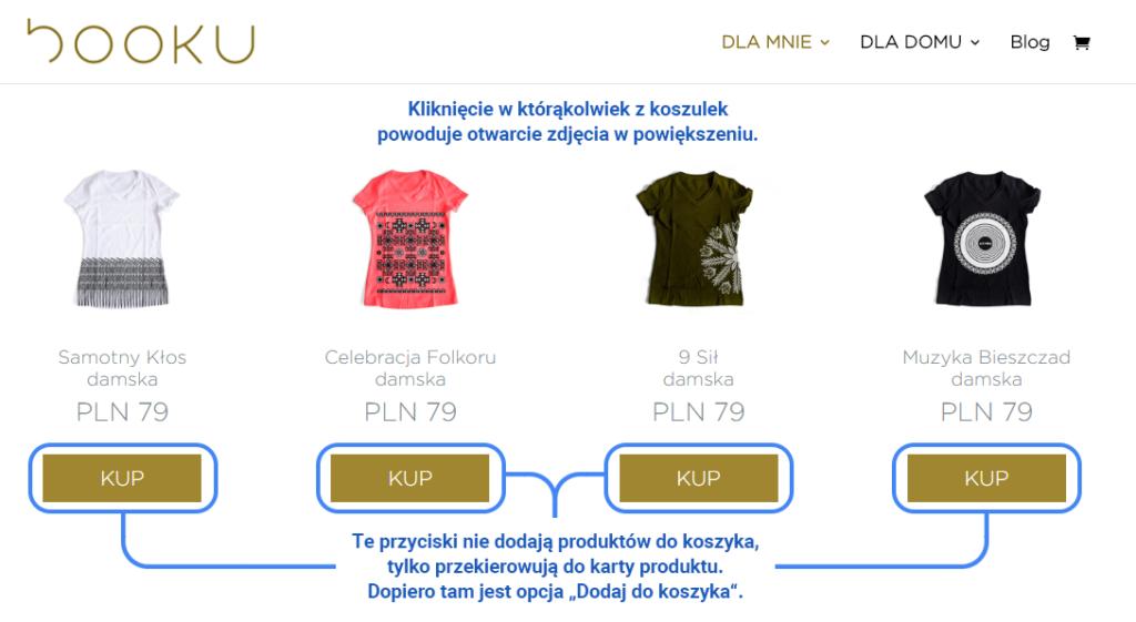 Przykład przedwczesnego zachęcenia użytkownika do zakupu