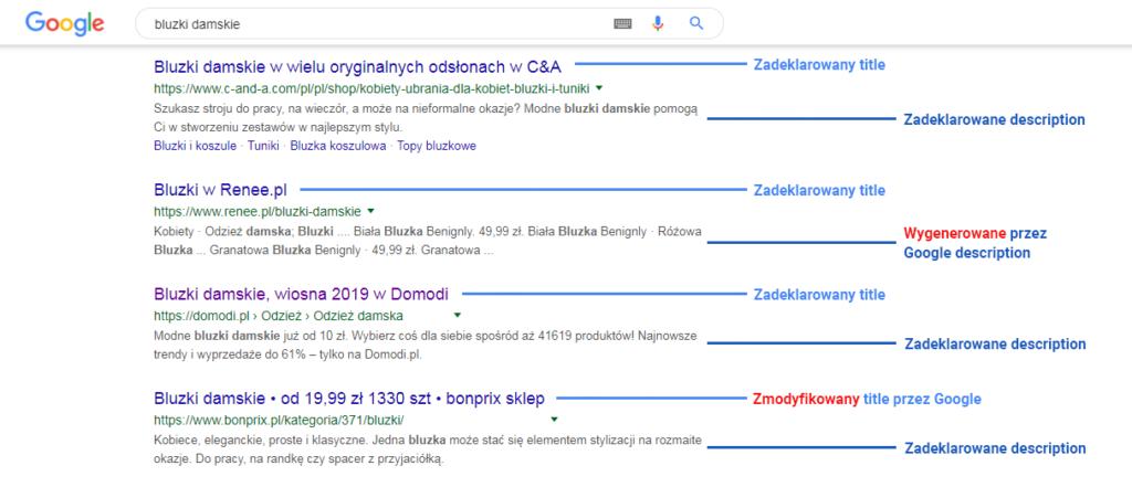 Google ceni sobie transparentność deklaracji do treści.