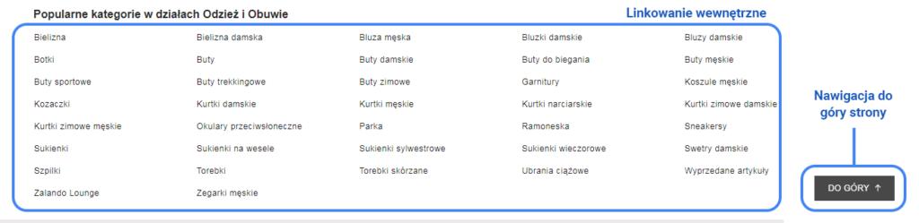 Przykład wskazania drogi użytkownikowi sklepu