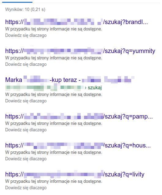 Wyniki wyszukiwania - blokada w robots.txt