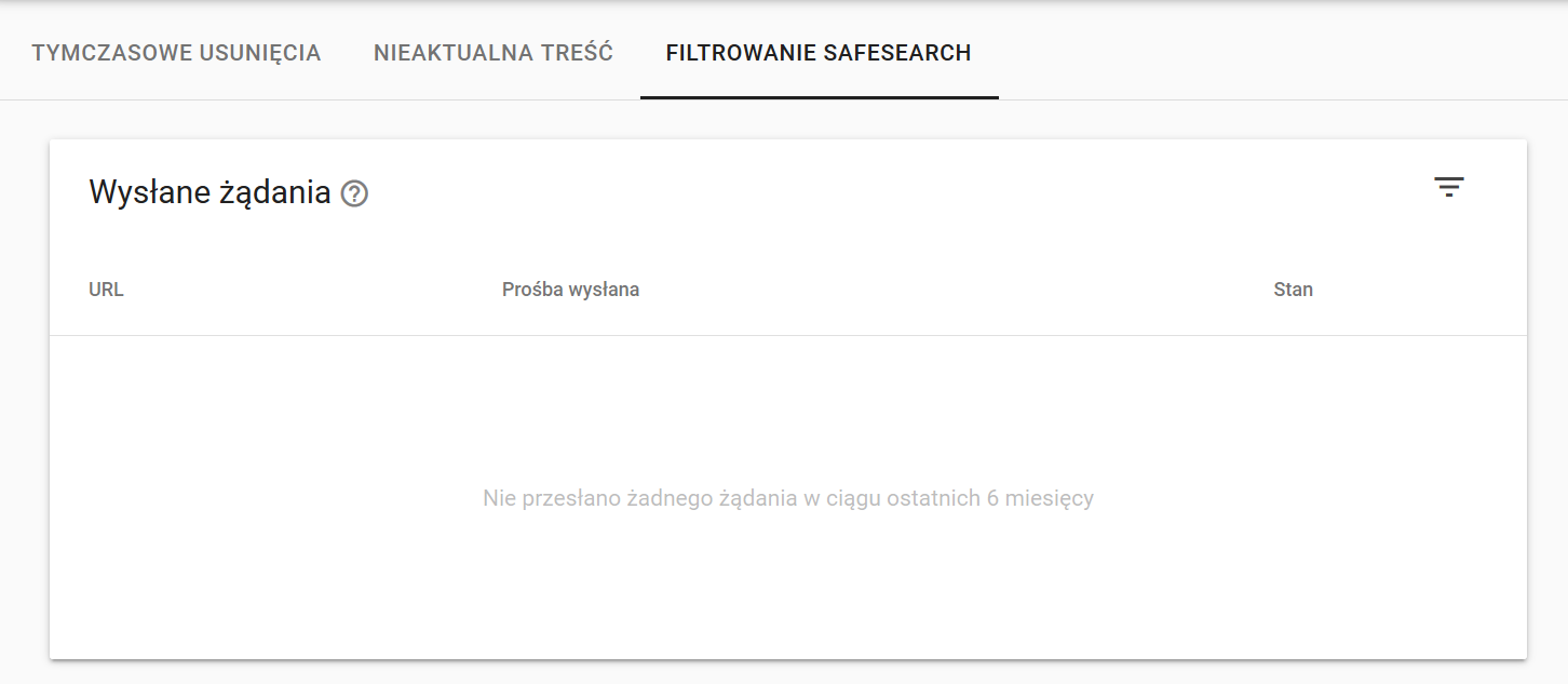 SafeSearch w GSC