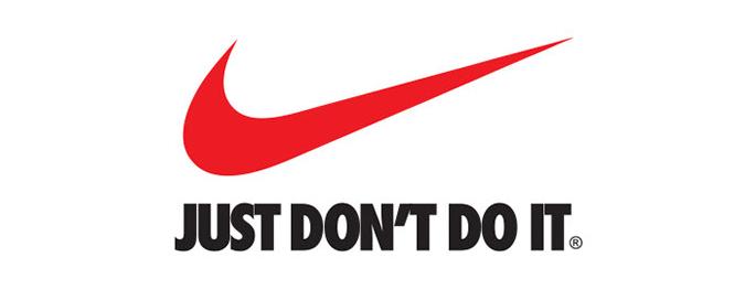 Logo Nike w czasach zarazy