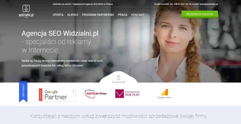 Widzialni.pl - nasza strona internetowa