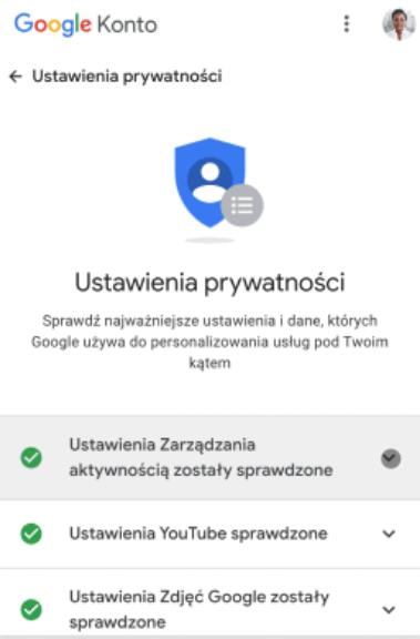 Panel prywatności