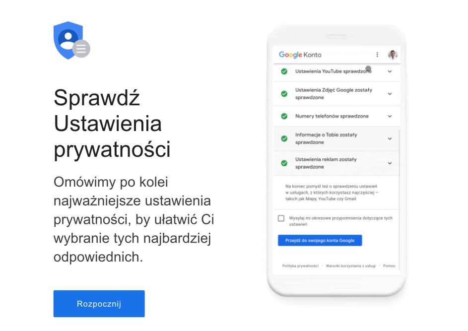 Mail od Google - prywatność