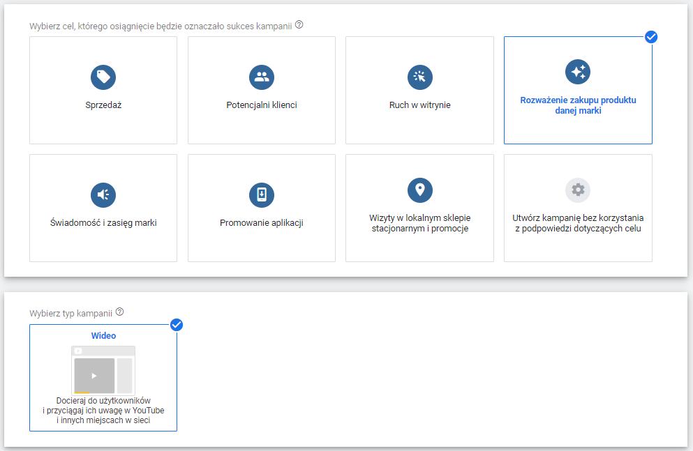 Google Ads - Rozważenie zakupu produktu danej marki