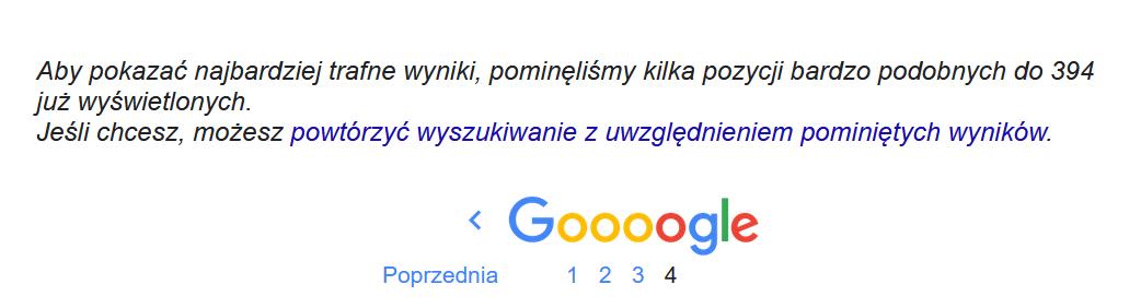 Indeks pomocniczy w Google