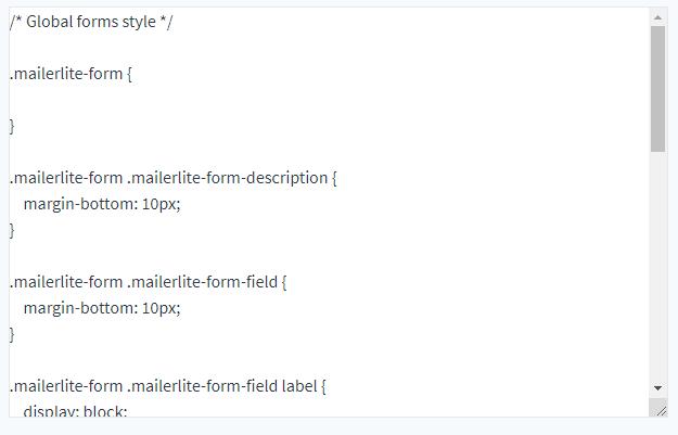 Kod CSS przed minifikacją
