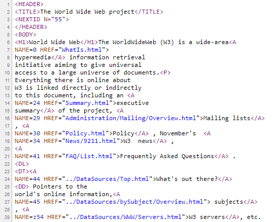 Kod HTML przed minifikacją