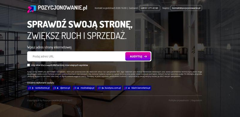 Pozycjonowanie.pl - audyt SEO online